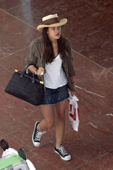 Charlotte Casiraghi with a Miu Miu Nappa Cloquet Frame Bag and in Converse  Chuck Taylor All Star Lo Top Sneakers. a9d395141