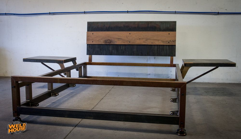 The Weld House Lowboy Bed Frame Is An Industrial Design Made From