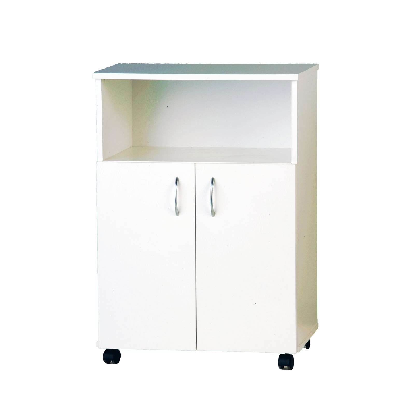 Find Bedford 610mm White 2 Door Microwave Trolley At Bunnings