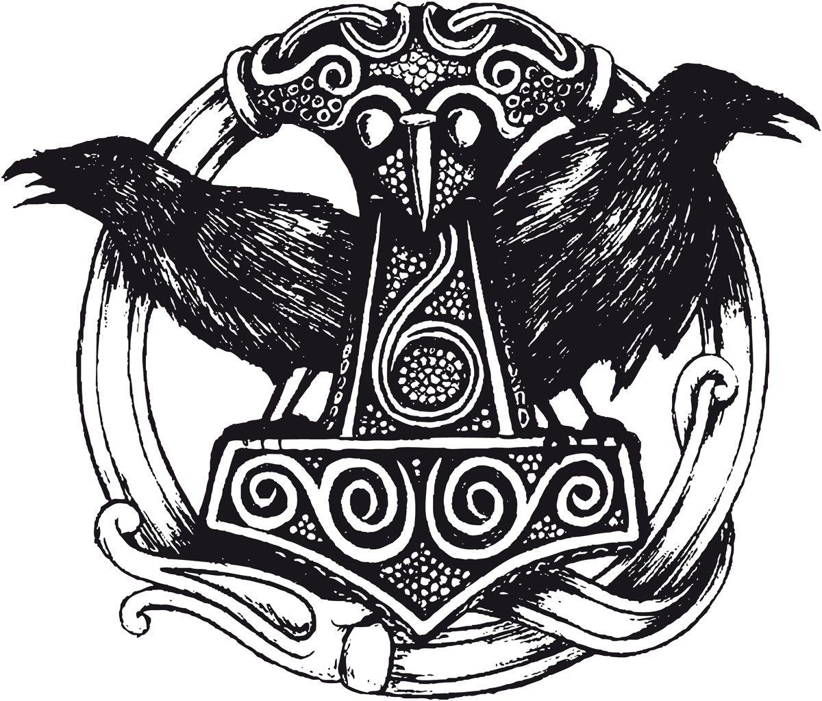 Odins Wolfe Und Raben Wikinger Wikinger Tattoos 14