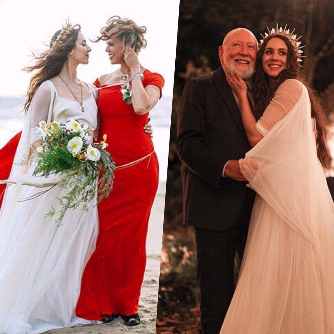 Troian With Her Mother And Father Bellisario Weddingcelebrity