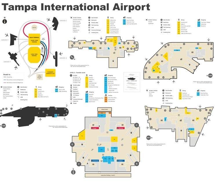 Tampa International Airport Map Airport Map Tampa International