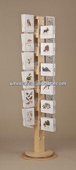 wood greeting card display stand