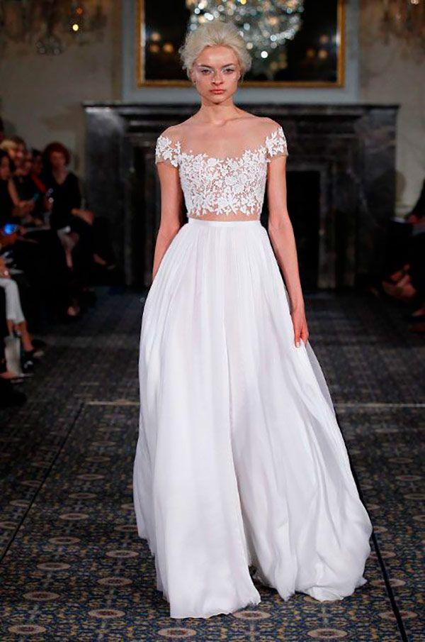 10 vestidos de noiva cropped - Constance Zahn | Vestido ...