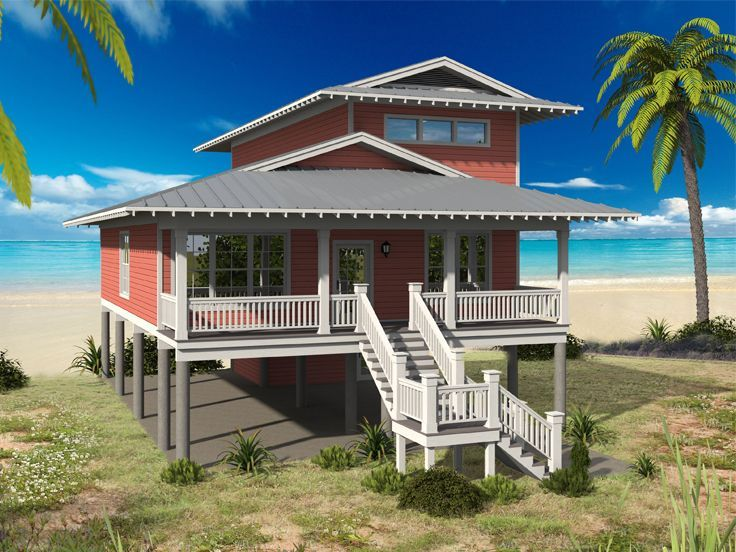 Plan 15035nc Narrow Lot Beach House Plan Beach House Plan Beach House Decor Beach House Exterior