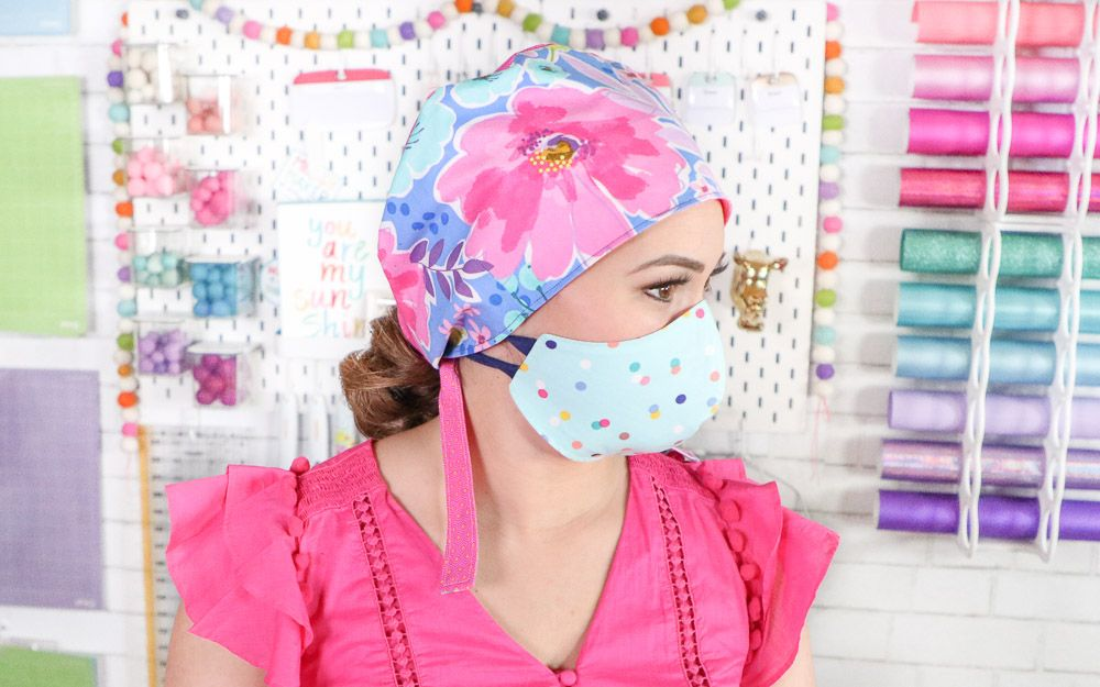 How to Make a Scrub Cap FREE Sewing Pattern Sewing