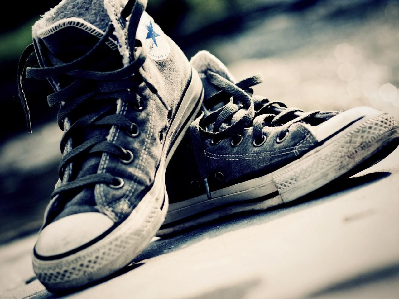 Converse Photography Shoes Sepia Wallpaper