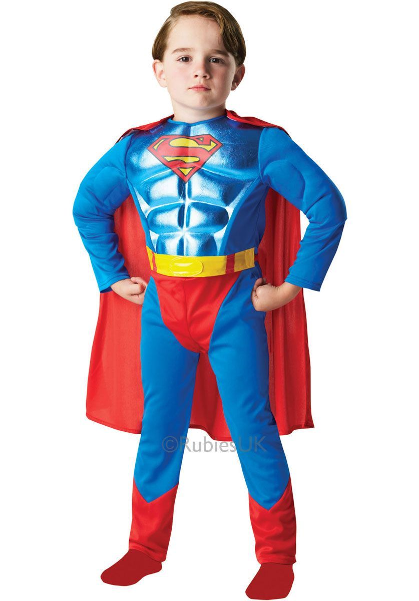 Fancy Dress Blue Red Cape Superhero Adult Child Kids Superman Wonderwoman Batman