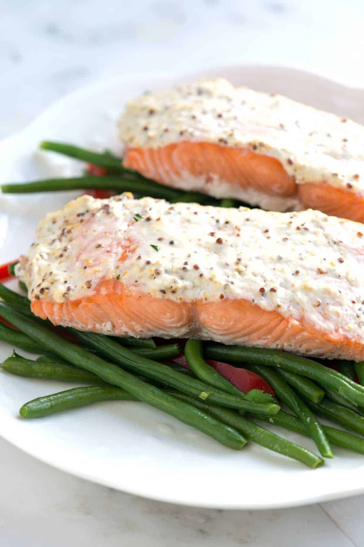 Easy Sour Cream Baked Salmon Recipe Baked Salmon Recipes Salmon Recipes Recipes