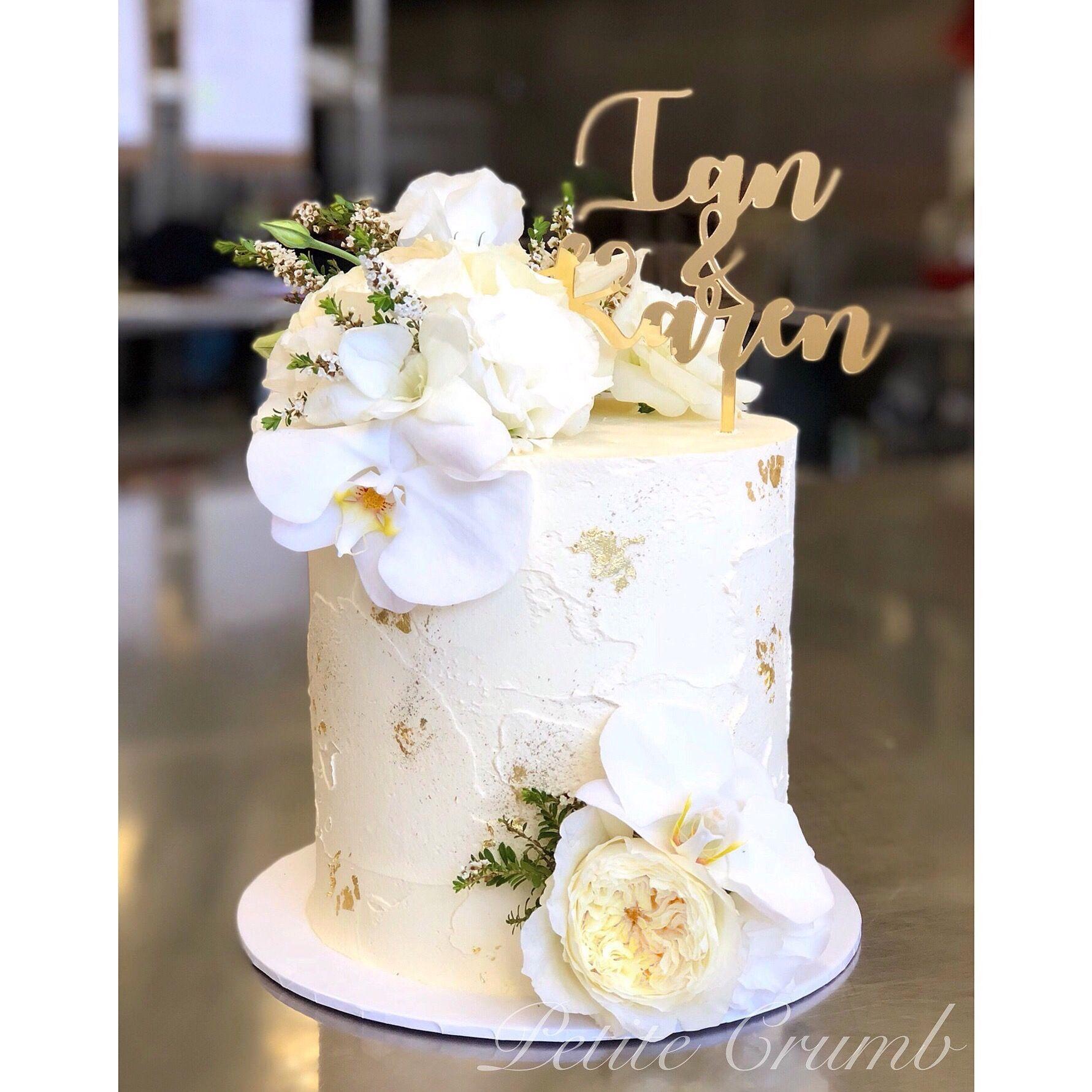 Engagement Buttercream Cake Gold Wedding Cake Modern Birthday Cakes Tall Wedding Cakes