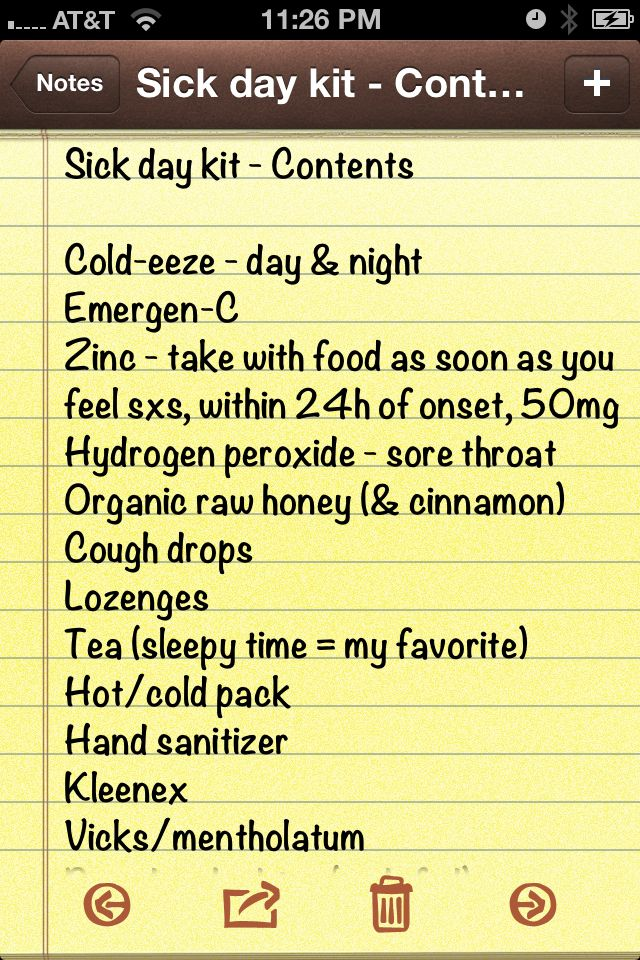 So I Wanted To Create A Sick Day Kit For My Friends Heres My List