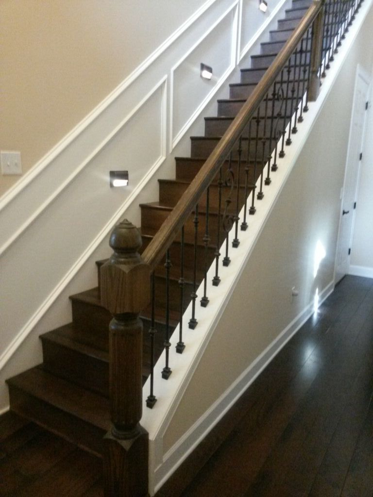 Best Took Out Drywall And Installed Wrought Iron Balusters 400 x 300