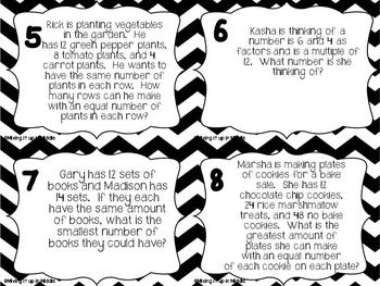 Opposites Worksheets For Preschool Excel Gcf And Lcm Word Problem Task Cards  Word Problems And Math Long A Phonics Worksheets Excel with Pick The Odd One Out Worksheets Pdf Gcf And Lcm Word Problem Task Cards Pronoun Worksheets For Grade 4