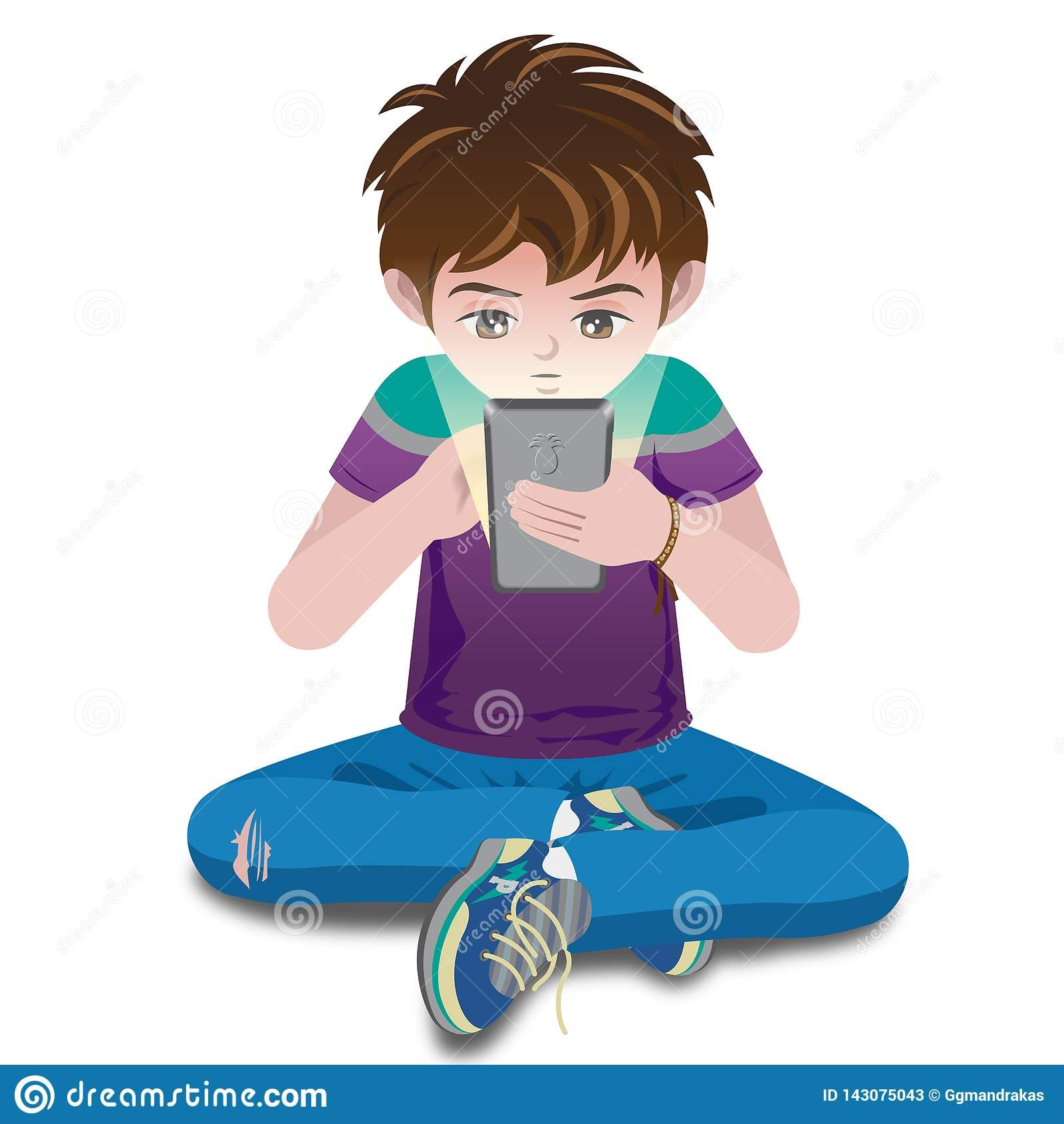 Boy With Device Nino Con Celular Cartoon Character Design Character Design Cartoon Characters