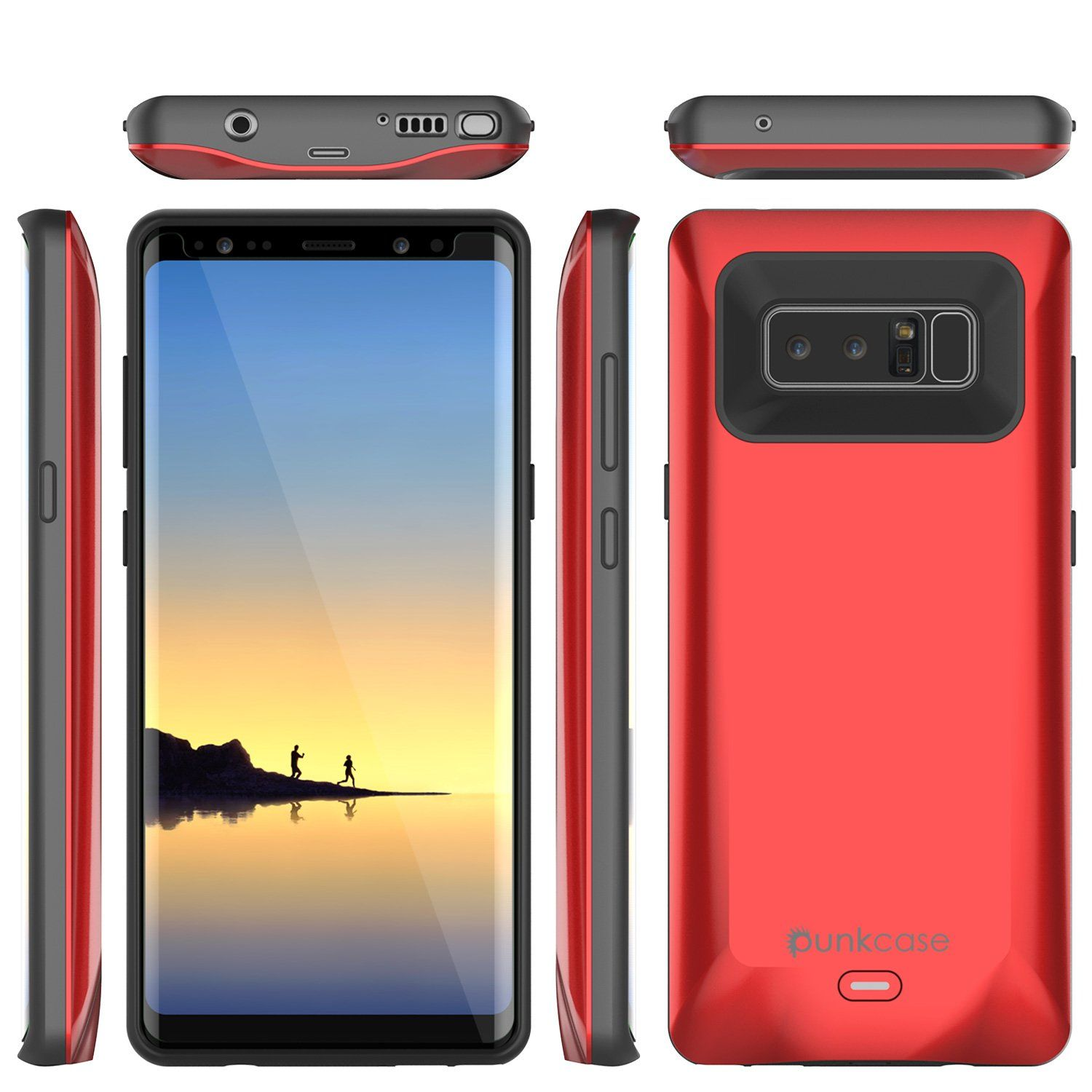 huge discount 815aa 447e2 Galaxy Note 8 5000mAH Battery Charger W/ USB Port Slim Case [Red] in ...