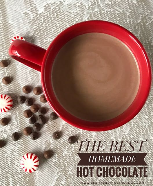 The BEST Homeade Hot Chocolate recipe.