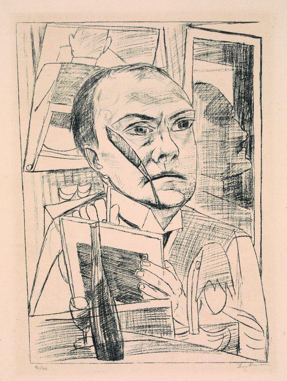 Selbst Im Hotel 1922 By Max Beckmann German 1884 1950 Lithograph Max Beckmann German Expressionist Expressionist Artists