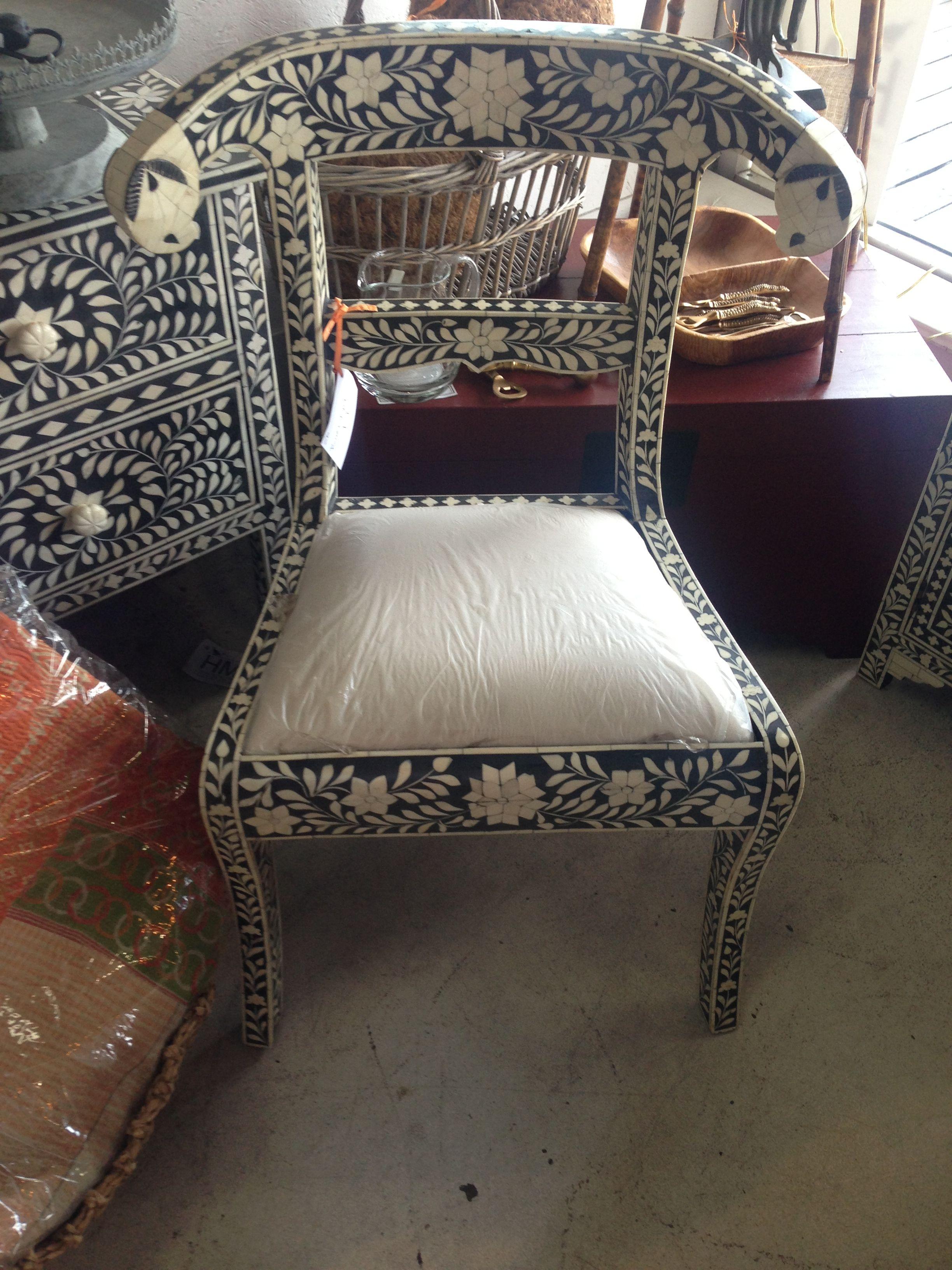 bone-inlay chair