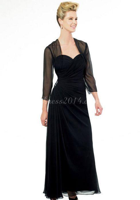 Wrap Ankle Length A-line Applique & A Chiffon Mother Of The Bride Dress