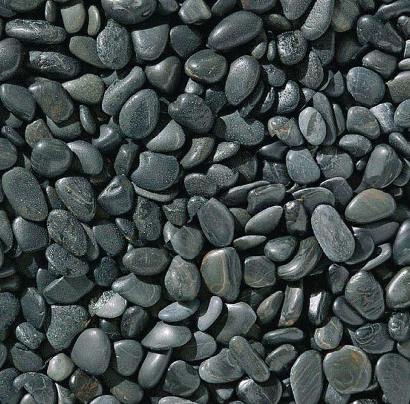 Black Polished Pebbles Marshalls Hard Landscaping Materials And