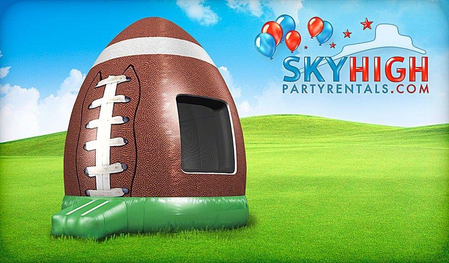 Houston Football Moonwalk Rentals SkyHighPartyRentals