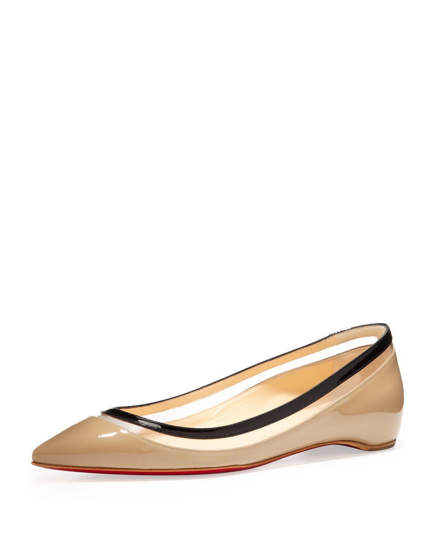 8e846a2f2ab Christian Louboutin Paulina Pointed-Toe Ballet Flat