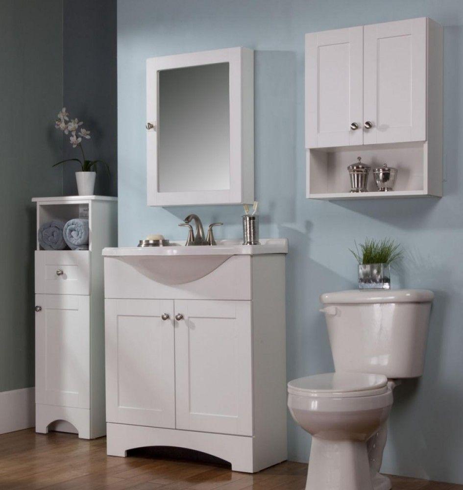 Bathroom Cabinet Outstanding Small Wooden Bathroom Floor Cabinets With Wall Mount Medicine Cabinet In White Paint Color Also Squar Mebel Vannaya Vannaya Komnata