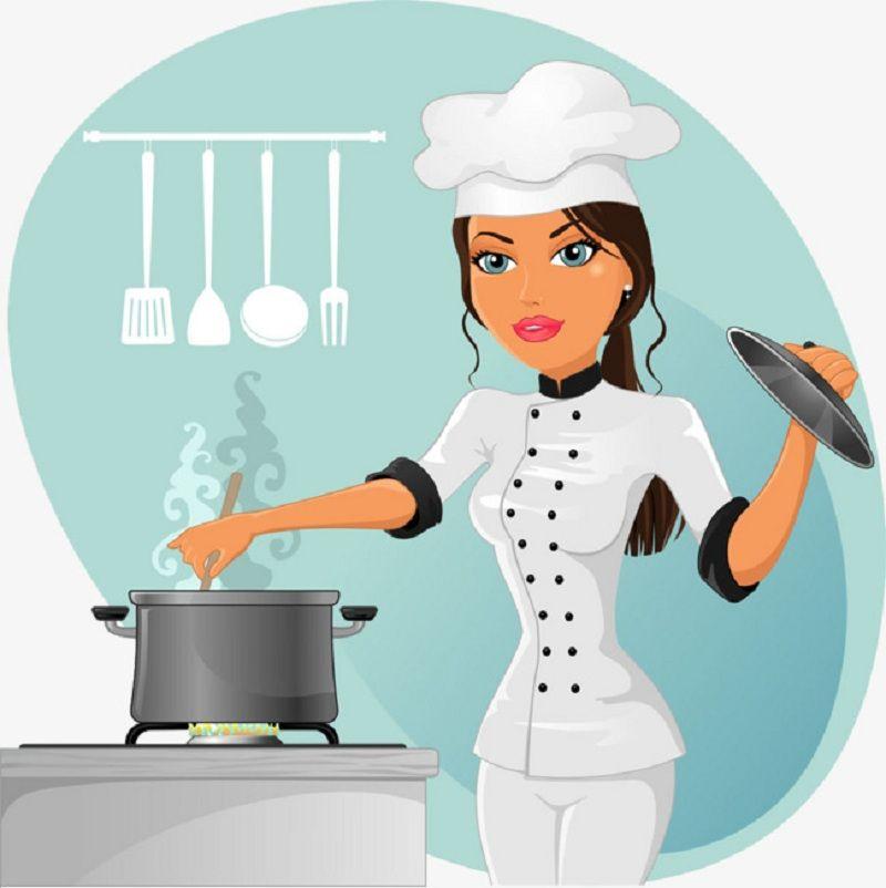 جميع ترددات قنوات الطبخ العربية المفتوحة على النايل سات 2019 Female Chef Cartoon Chef Cooking Clipart