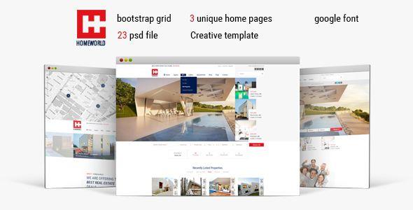 Homeworld - Responsive Real Estate HTML5 Template . Homeworld ...