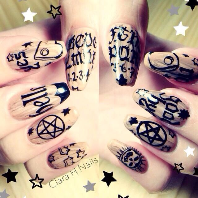Ouija Nails!❤ | Make Up To Try | Pinterest | Espíritu libre ...