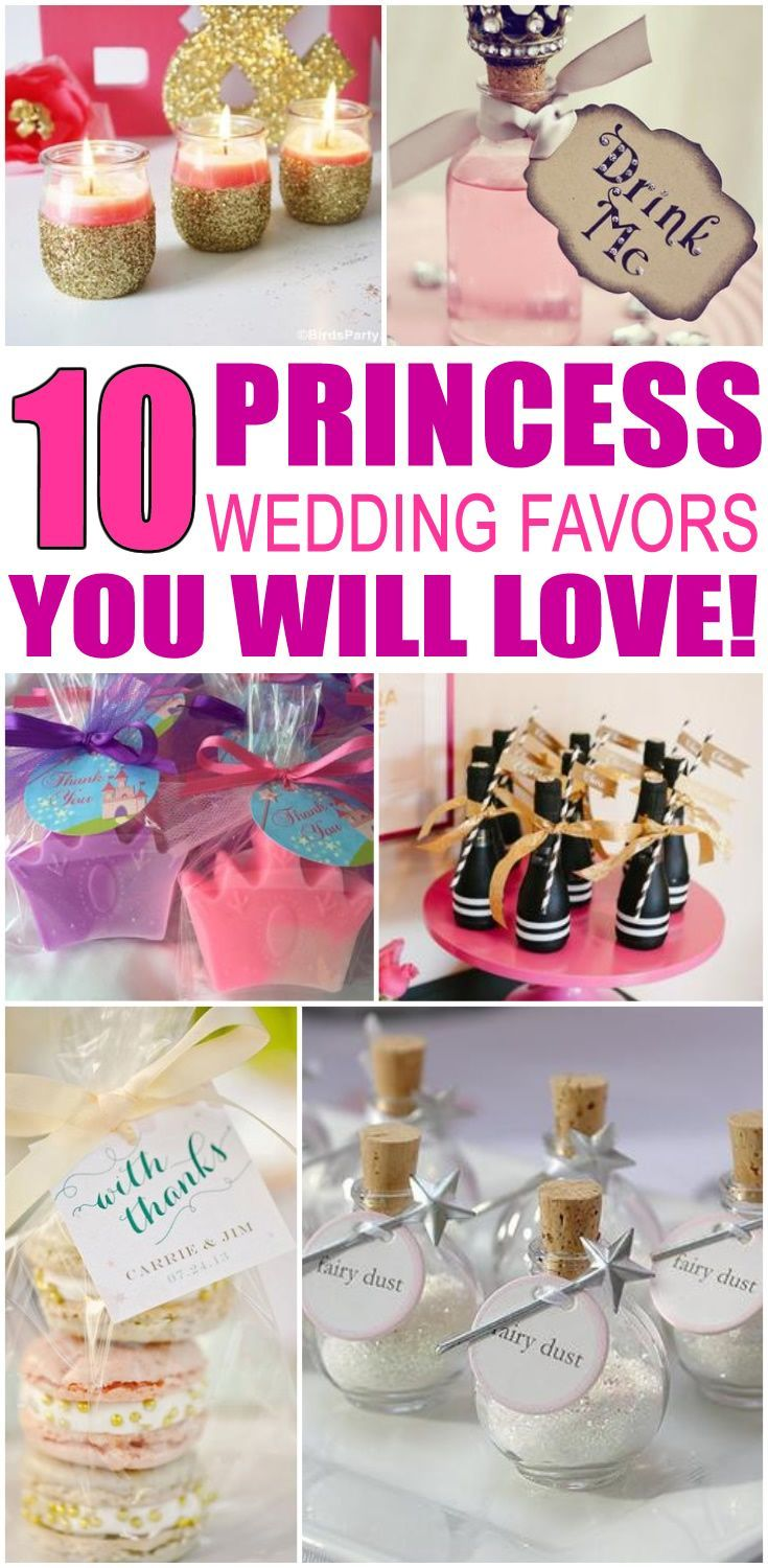 Wedding Favors! Princess wedding favor ideas that your guests will ...