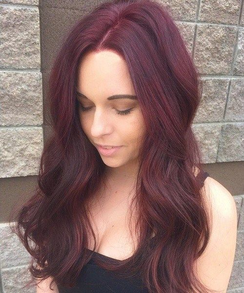Incredible Suggestion Of Your Hair Plus Light Burgundy Color Captivating With Caramel