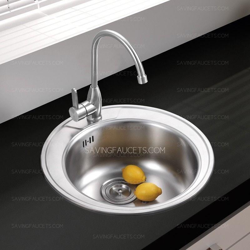 Round Stainless Steel Kitchen Sink | Stainless steel kitchen, Sinks ...