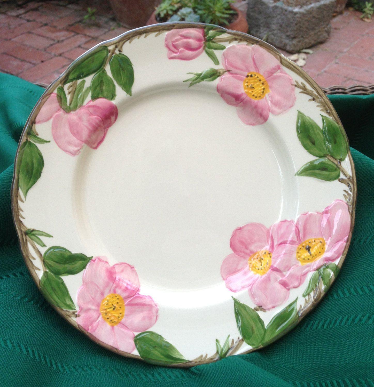 Vintage Dinner Plate, Franciscan, Desert Rose Pattern ...