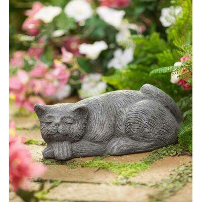Wind Weather Sleeping Cat Textured Statue Cat Garden Garden