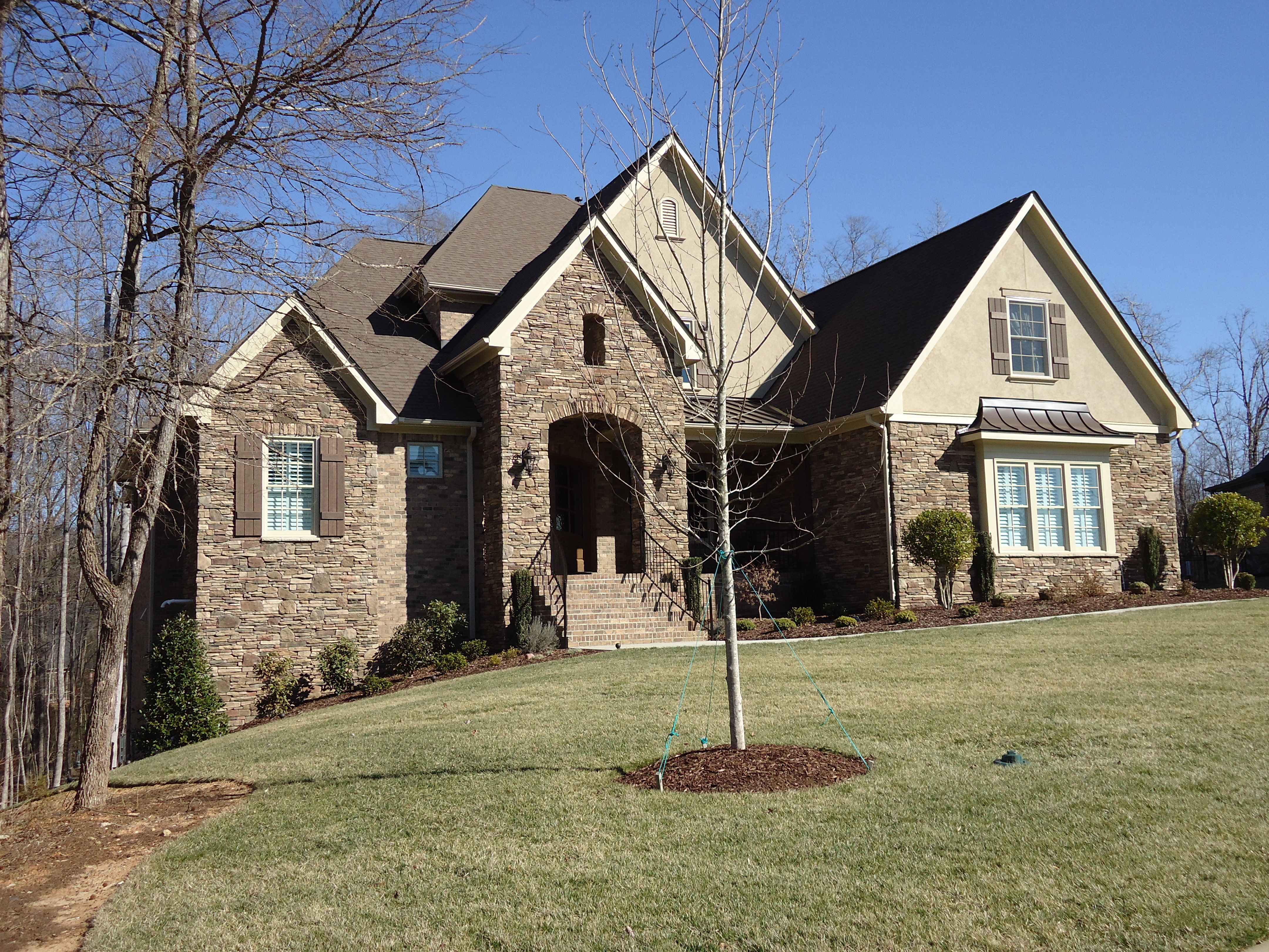 Arh plan the asheville 1131f exterior 17 roof owens - Chestnut brown exterior gloss paint ...