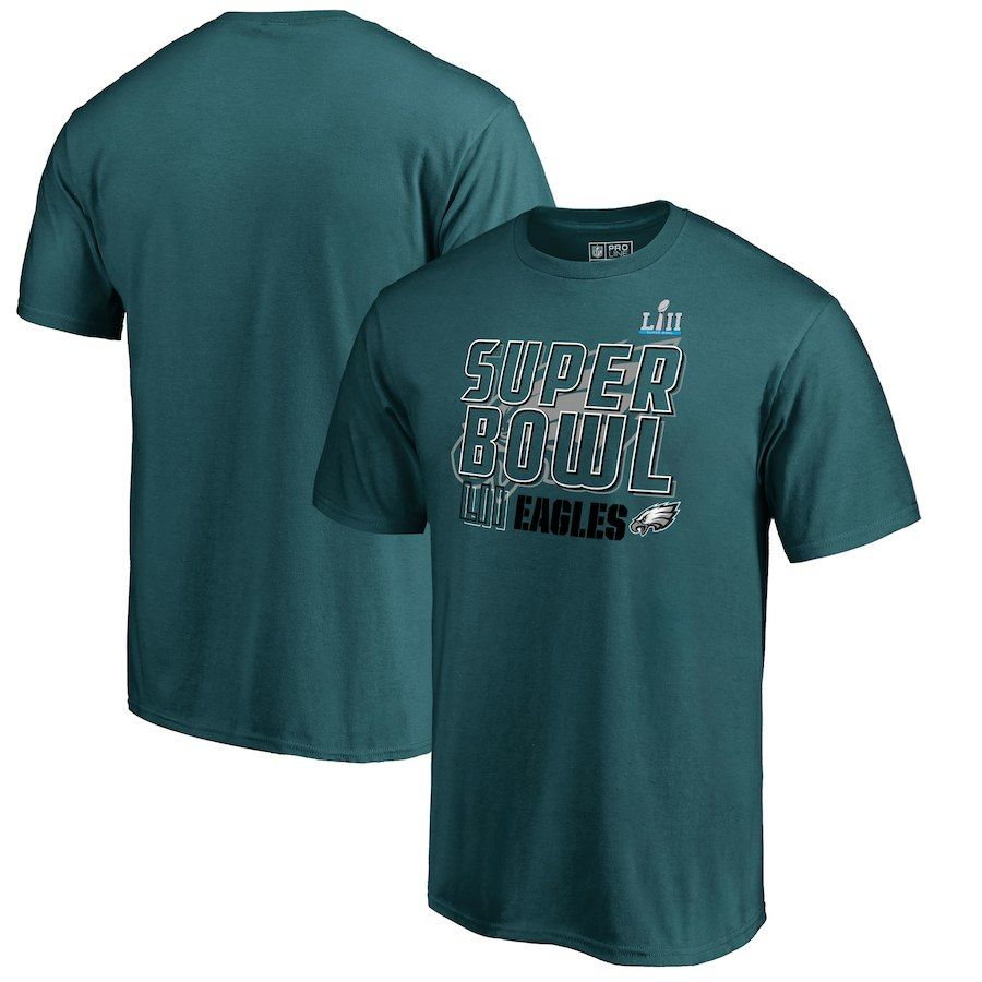 Philadelphia Eagles NFL Pro Line by Fanatics Branded Super Bowl LII Bound  Dig T-Shirt – Midnight Green 537d0cc42