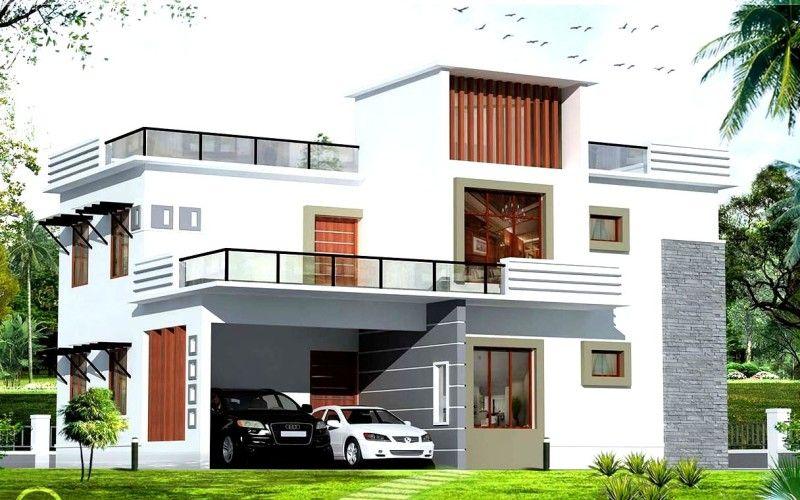 House: White Exterior House Color Schemes With Modern Garage Design Plans, Favorite Exterior House Color, Exterior House Paint Color Examples ~ EastsideHomeLink.com