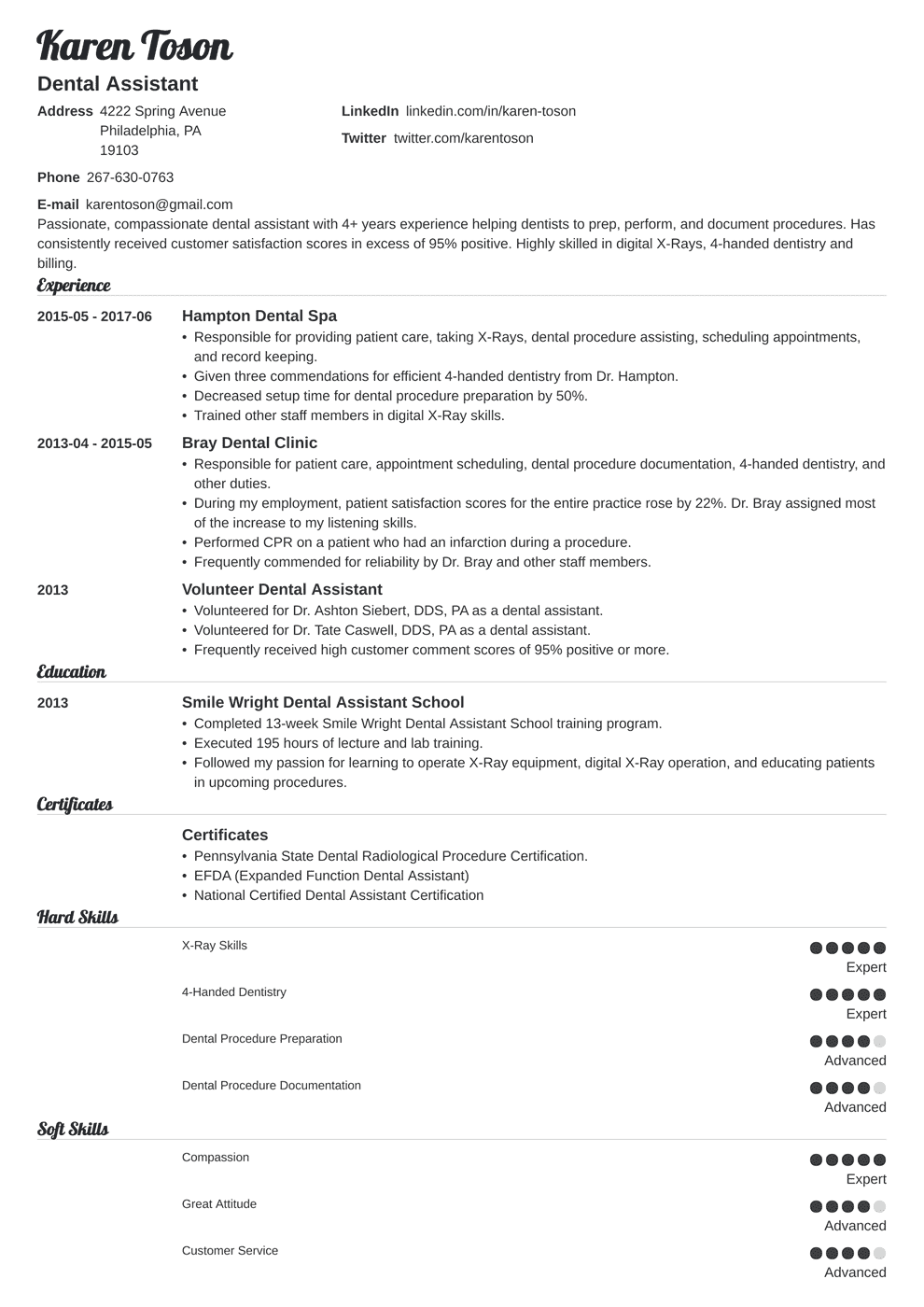 37++ Dental assistant resume 2020 ideas in 2021