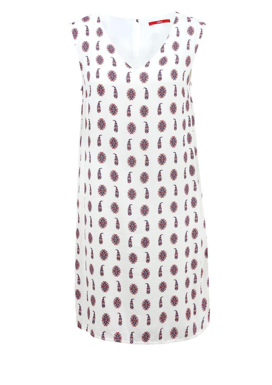 Blusenkleid mit Musterprint von s.Oliver. Entdecken Sie jetzt topaktuelle Mode…