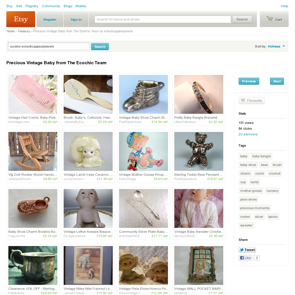 Website 'http://www.etsy.com/treasury/MTI5MjU2NjF8MjcyMDczNDAwNQ/precious-vintage-baby-from-the-ecochic' snapped on Snapito!