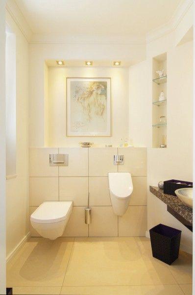 Wc Und Urinal Im Gästebad Sauna Ideasdownstairs Toiletpowder