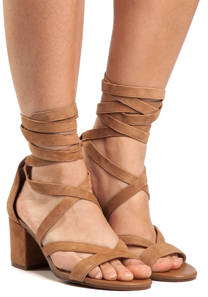 7cd269984fa Lyst - Sam Edelman Sheri Golden Camel Suede Sandal in Brown