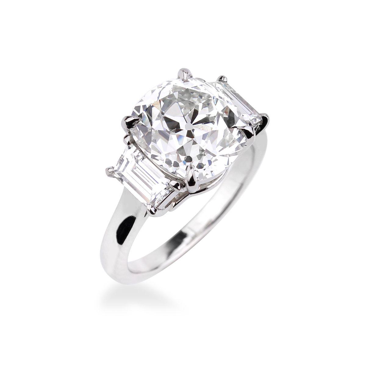 bague diamant solitaire coussin