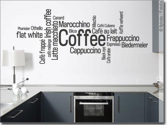 Wandtattoo Coffee Wandtattoo Worte Pinterest