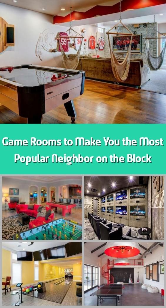 Photo of Game Rooms to Make You the Most Popular Neighbor on the Block – A game room (or …,  #Block …