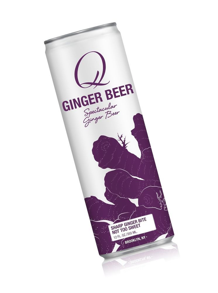 Q Drinks, Q Ginger Beer, Spectacular Ginger Beer, 12 Ounce Slim Can