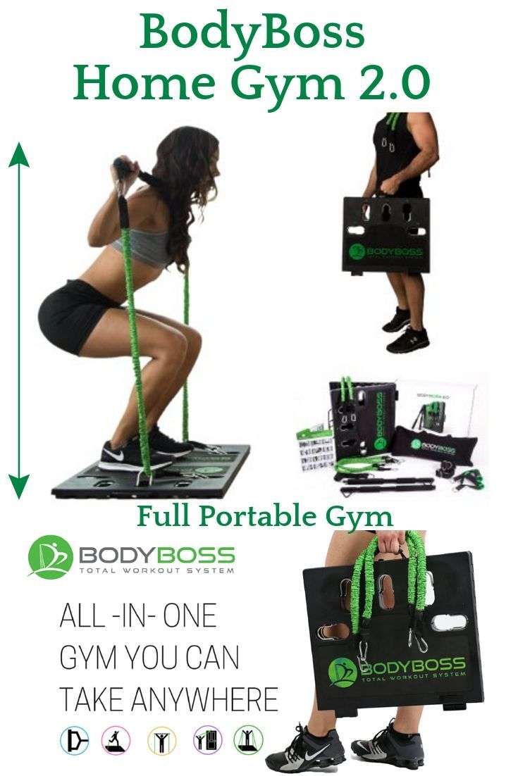 BodyBoss Home Gym The BodyBoss Home Gym Is Full Portable Gym Home Workout  Package + Set Of Resistance Bands. BODYBOSS IS UNIQUE IN HOW IT U2026