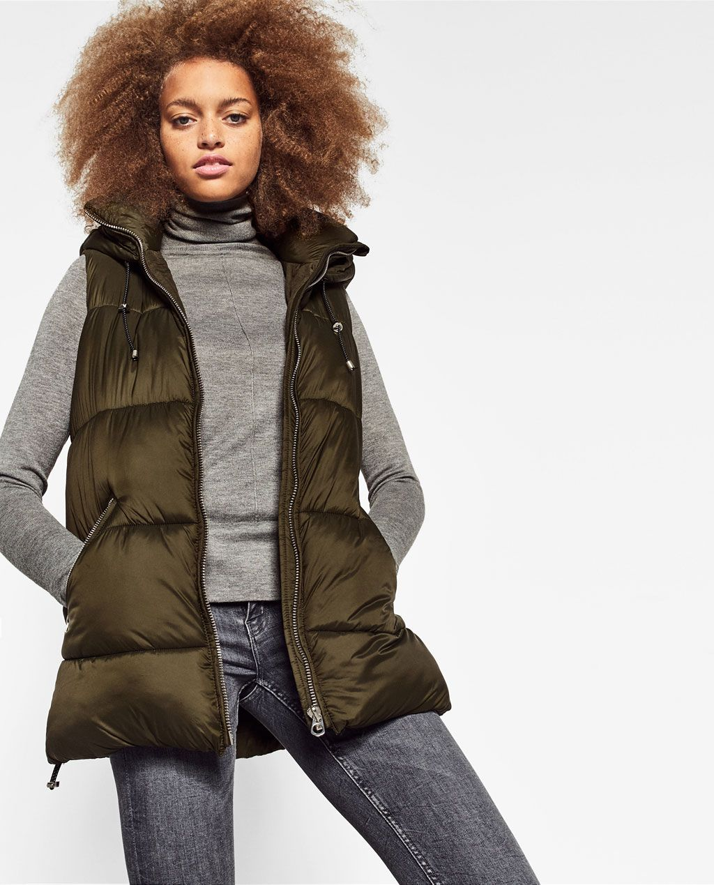 98a213cc HOODED VEST-JACKETS-TRF | ZARA United States | Love the Look ...