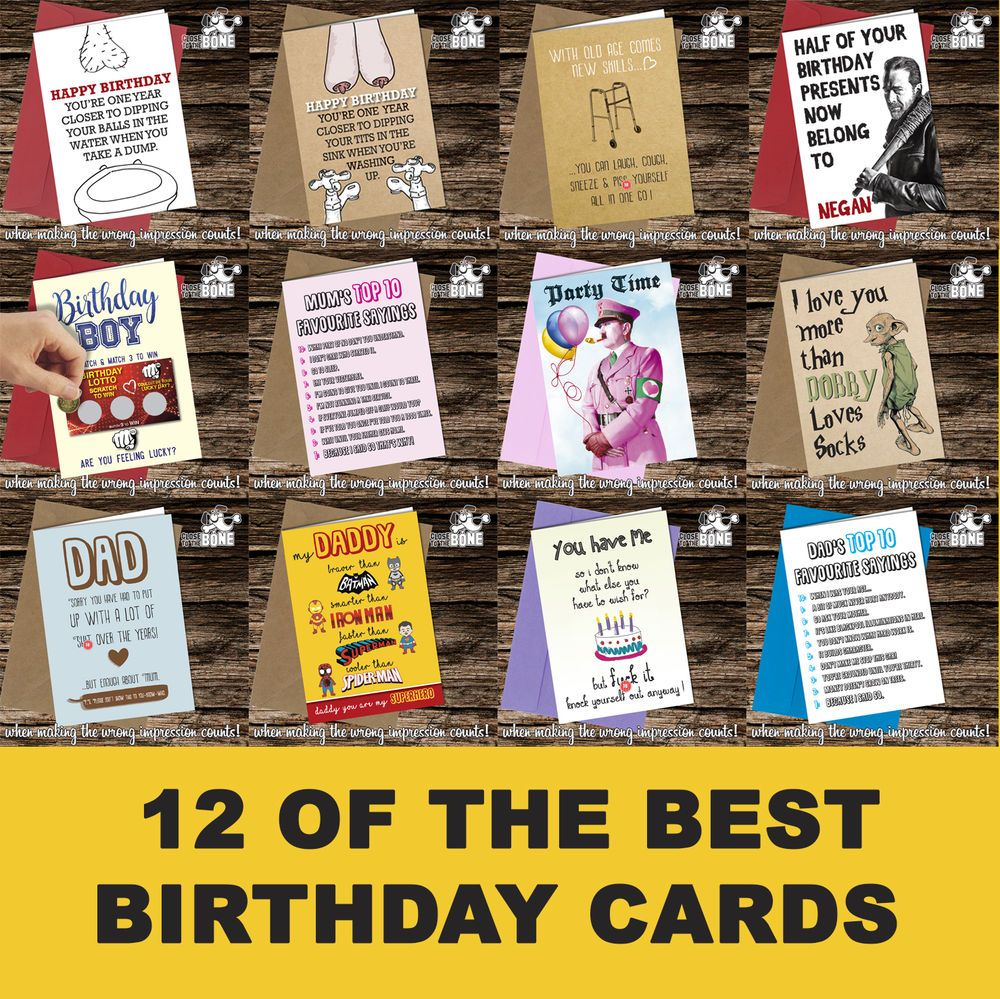 Birthday Greeting Cards funny rude cheeky joke humorous Close to the Bone  | eBay